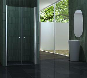 75 - 100 x 180 cm Nischentür Duschwand Pendeltür Duschtür Duschabtrennung Dusche
