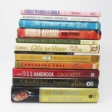 Christian Living Book Lot of 12 Bible Billy Graham Beth Moore Corrie Ten Boom