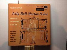 """JELLY ROLL MORTON -Rediscoverd Solos ~RIVERSIDE 10"""" 1018 {Cincinatti 1924} >RARE"""