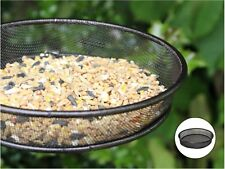 Metal Mesh Tray Animal Bird Deluxe Feeding Station Durable Dish Brown Hammertone