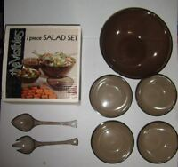 True Vintage Thermo-Serv The Visibles WESTBEND 7 Pc Plastic Salad Set 6995-101