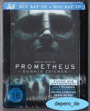 """""""PROMETHEUS - DUNKLE ZEICHEN"""" - Alien Horror - BLU RAY STEELBOOK 3D + 2D Holo"""