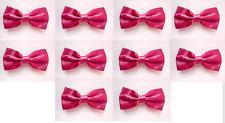LOT OF 10 Hot Pink Men's Adjustable Bowties/Bow tie Tuxedo Wedding