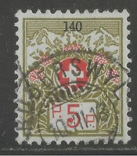 Switzerland #S7 (F1) VF USED - 1926 5c Franchise Stamp With Black Control Number