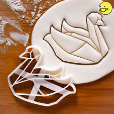 Origami Swan cookie cutter | elegant love swans ugly duckling beauty goose duck