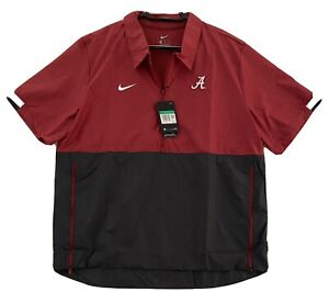 NWT NIKE University of Alabama 1/2 zip short sleeve wind jacket w pocket size XL