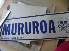 MURUROA AFFICHE CONTRE LES ESSAIS NUCLEAIRES VERS 1970
