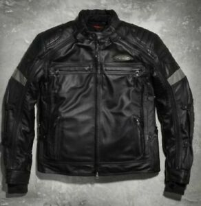 Harley Davidson Men's FXRG Switchback Black Leather Jacket 2in1 98095-15VM M 3XL