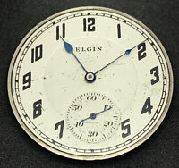 Elgin Grade 384 Pocket Watch Movement 12s 17j Openface Model 3 For repair F5492