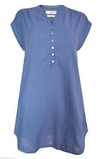 Cotton Patternless Casual Tunic Dresses for Women