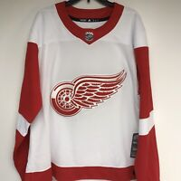 NWT Detroit Red Wings NHL Hockey Jersey Sewn 54 Adidas Fight Straps Authentic