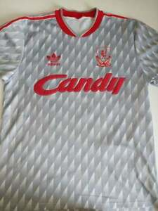 Liverpool FC adidas 1989-90 away shirt printed no 7.