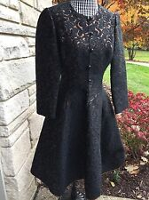 Richard Tam Black & Copper Damask Couture 1960s Dress - Bergdorf & Goodman Plaza