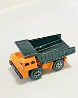 MATCHBOX FAUN DUMP TRUCK - Orange And Black - RARE 1989 vintage die cast