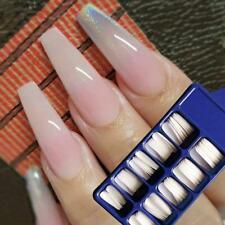 100Pcs False Nail Tips Ballerina Full Cover Long Coffin Fake Nails Art Manicure@