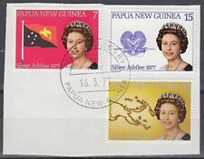 Papua-Neuguinea 1977 Θ Mi.321/23 Regentschaft Silver Jubilee Queen [sq7138]