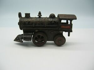 Early Ives train O gauge No 1 red plate clockwork locomotive bicycle (reverse)