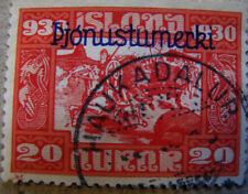 Iceland #  Facit Tj 64  Althingi 1930. Þjónusta used. Rare stamp.