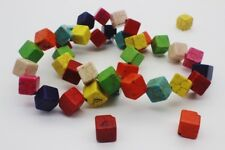 30 pce Colour Mix Synthetic Howlite Gemstone Cube Beads 12mm Jewellery Making