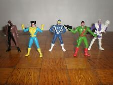 Lot 5 figurines X-Men Giftoys 80' s-unofficial X-Men Marvel super X-Fighters