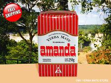 Yerba Mate - Amanda Brand with Stems - 250 Grams - 8.82 Oz -  Free Shipping