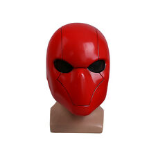 Red Hood Helmet Full Head PVC Mask Cosplay Batman Hood Mask Halloween Accessory