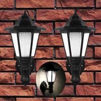 2PCS Solar Power LED Wall Light Waterproof Outdoor Fence Hexagonal Lamp Fixture
