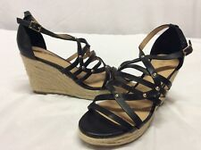 REPORT Women's Wedge Sandals, Black, Size 9 M ...Wed 1