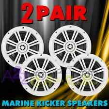 2 X KICKER 41KM604W 2-WAY 6 1/2 WATER-RESISTANT MARINE BOAT SPEAKERS 1/2 TWEETER