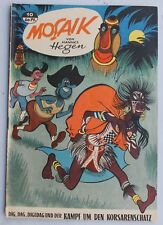 original MOSAIK Hannes Hegen Nr. 10 Dig Dag Digedag Kampf um den Korsarens. 1957
