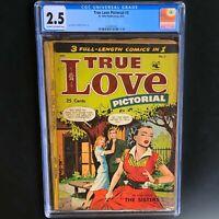 True Love Pictorial #3 (St. John 1953) 💥 CGC 2.5 💥 MATT BAKER & JOE KUBERT ART