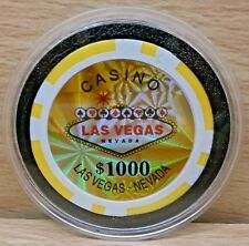 HOLOGRAM VEGAS  SIGN POKER- BRAND NEW CASINO CHIP CARD GUARD/PROTECTOR