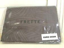 "FRETTE EURO Continental Pillow SHAM Carezza Steel Grey 26x26"" 100%Cotton $160NEW"
