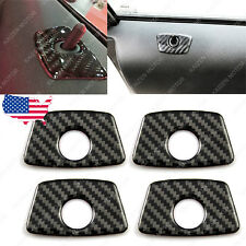 4x Carbon Fiber Door Lock Pin Trim Protection Cover Stickers for BMW X1 X3 X5 3