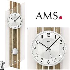 AMS 50 Reloj De Pared Radio Péndulo para salón CRISTAL MINERAL 143