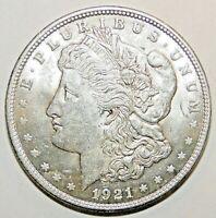 1921 Morgan Silver Dollar AU, A19