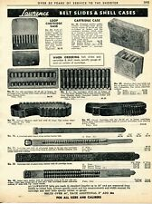 1962 Print Ad of Lawrence Leather Belt Slides & Shell Cartridge Cases