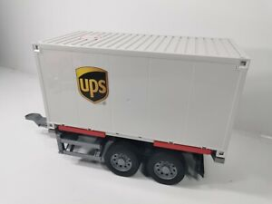 Bruder UPS Anhänger Wechselbrücke LKW Lastwagen Logistik 02538 03581