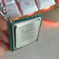 Key chain Authentic Intel  CPU Creative Computer Charm Key Ring Gold Metal Chain