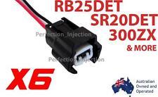 6 Fuel Injector Connectors Nissan RB25DET SR20DET 300zx 240sx 200zx Silvia S13