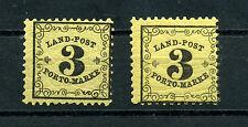 Landpost 3 Kr. beide Papiere tadellos postfrisch Mi# LP 2 x/y 287 €