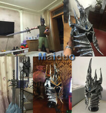WOW Lich King The helm of domination Arthas 1:1 Helmet Cosplay Polystone Gift