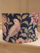 LAMPSHADE 30cm ART DECO WILLIAM MORRIS STYLE BIRDS FLORAL CHINTZ NAVY HERITAGE