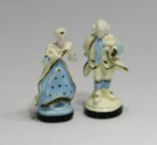 Dollhouse Miniature Statue Set of a Colonial Couple