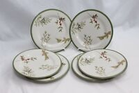 "Sonoma Holly Greens Salad Plates 8"" Set of 6"