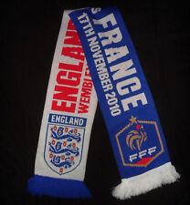 NEW NWOT OFFICIAL 2010 ENGLAND VS. FRANCE WEMBLEY STADIUM SOCCER FOOTBALL Scarf
