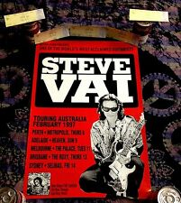 1997 STEVE VAI MIKE KENEALLY ROXY CONCERT POSTER W/ 5 UNUSED TICKETS FRANK ZAPPA