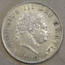 Great Britain 1818 Half Crown AU