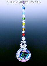 m/w Swarovski 30mm Aurora Mozart w/ Chakra Colors SunCatcher Lilli Heart Designs