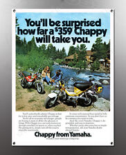 VINTAGE YAMAHA CHAPPY IMAGE BANNER NOS IMAGE REPRODUCTION
